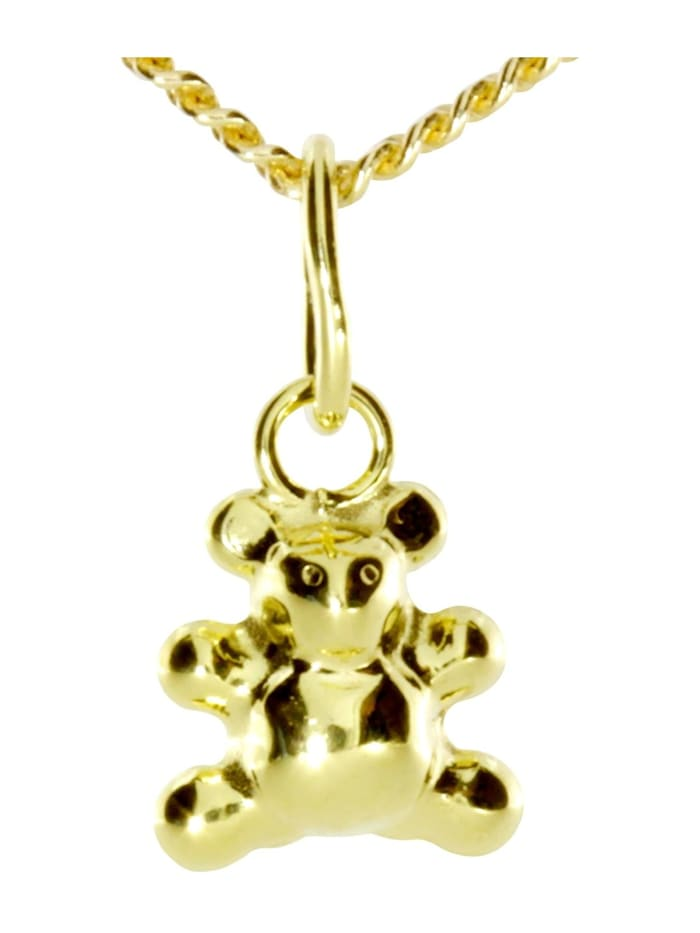 OSTSEE-SCHMUCK Kette mit Anhänger - Teddy - Gold 333/000 -, gold