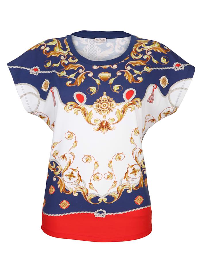 Alba Moda Strandshirt im Marinelook, Marineblau