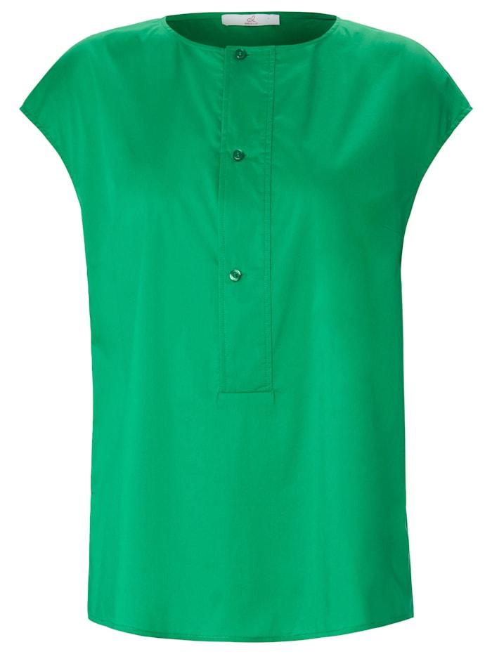 Emilia Lay Kurzarmbluse mit überschnittener Schulter, grün