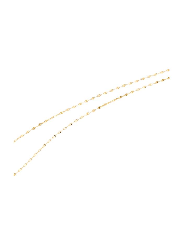 Chaîne maille ancrée en or jaune, Coloris or jaune