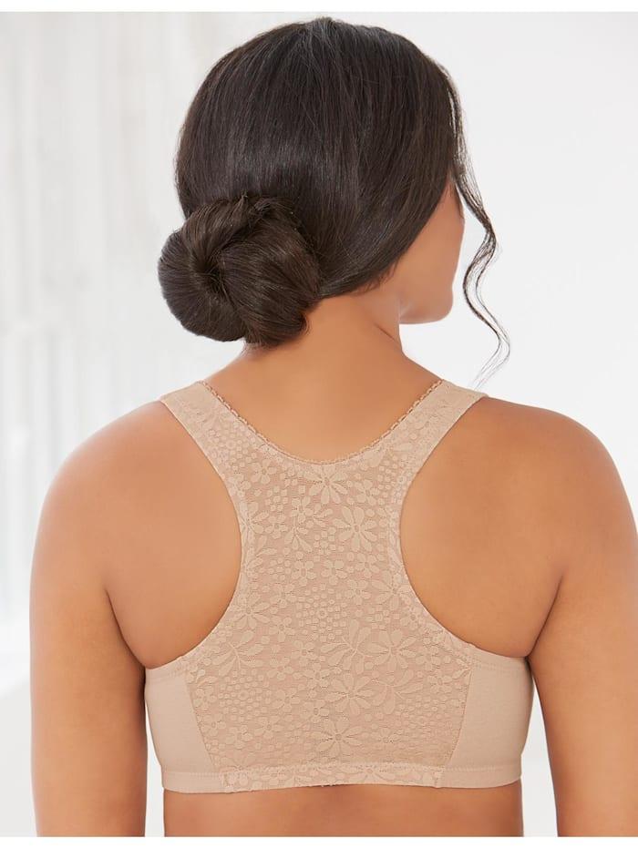 Baumwoll-BH mit Vorderverschluss und T-Rücken