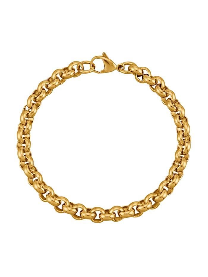 Bracelet maille forçat, doré, Coloris or jaune