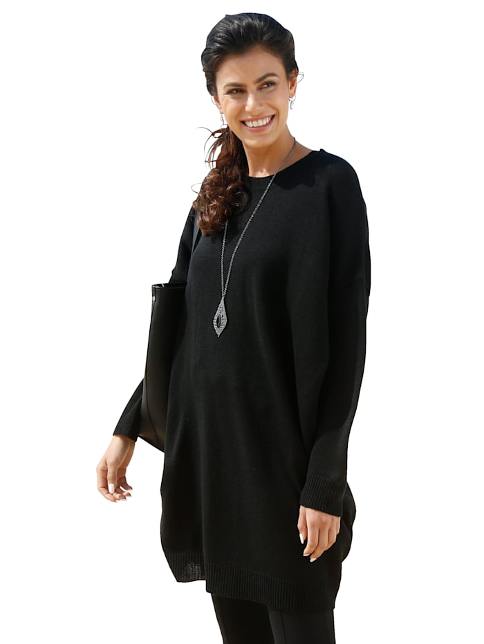 AMY VERMONT Pullover in Oversize-Form, Schwarz
