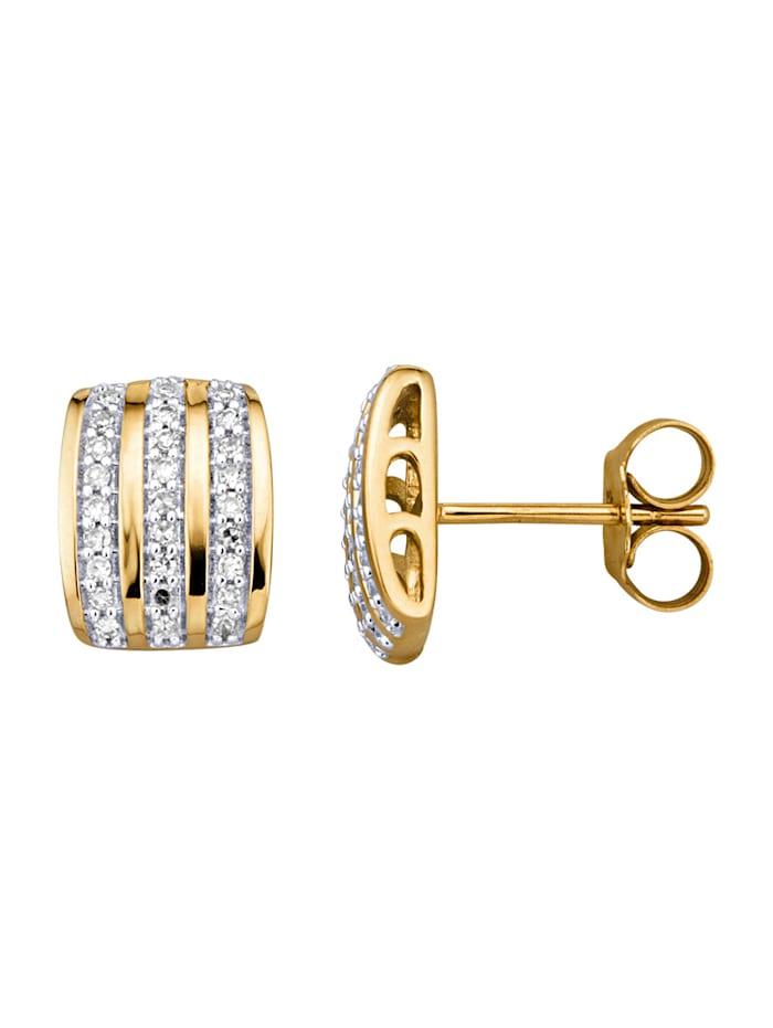 Amara Highlights Boucles d'oreilles avec diamants, Blanc