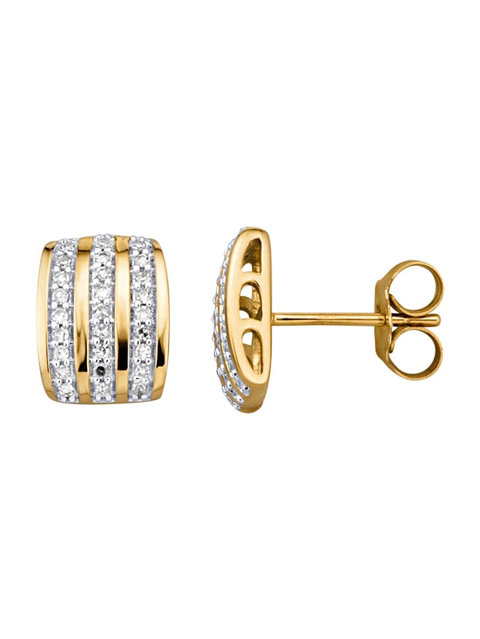 Diemer Highlights Oorstekers met diamanten, Wit