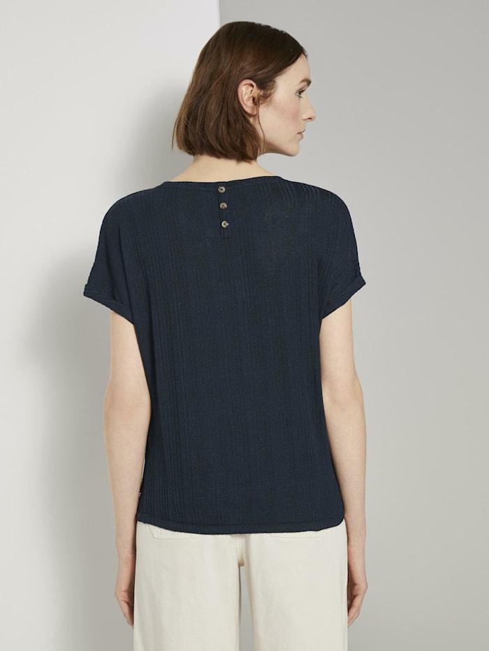T-Shirt mit elastischem Bund