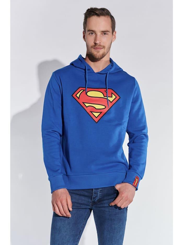 course Herren Hoodie mit Superman Aufdruck, navy marl
