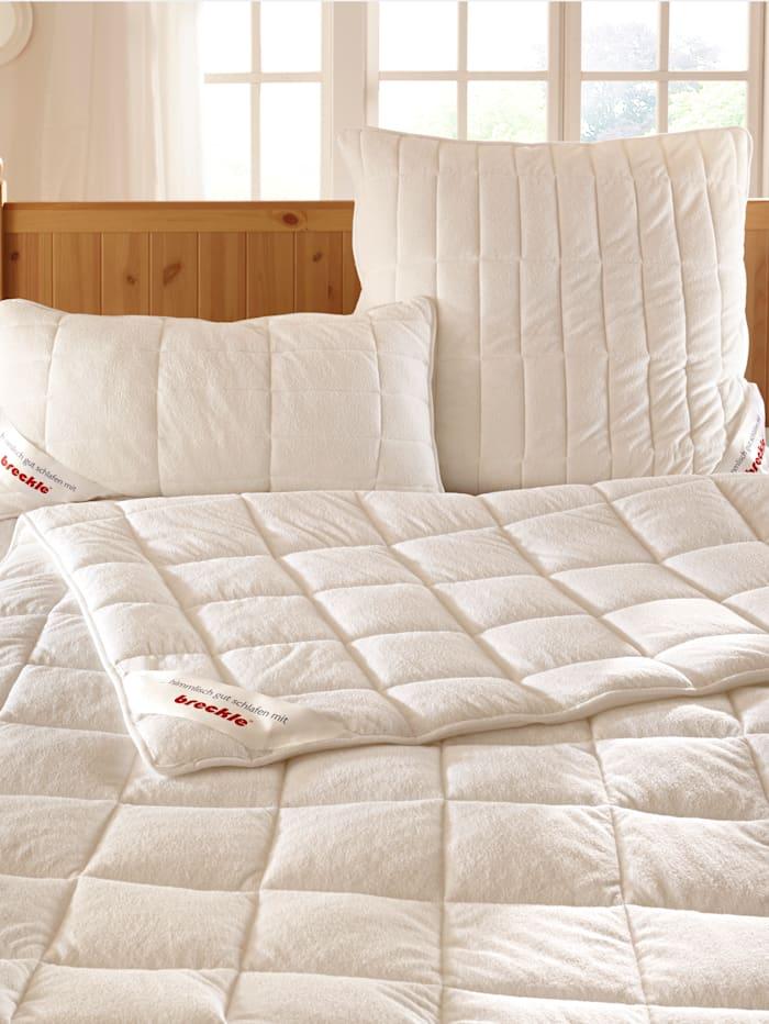 Breckle Faser Bettenprogramm mit Frotteebezug, weiss