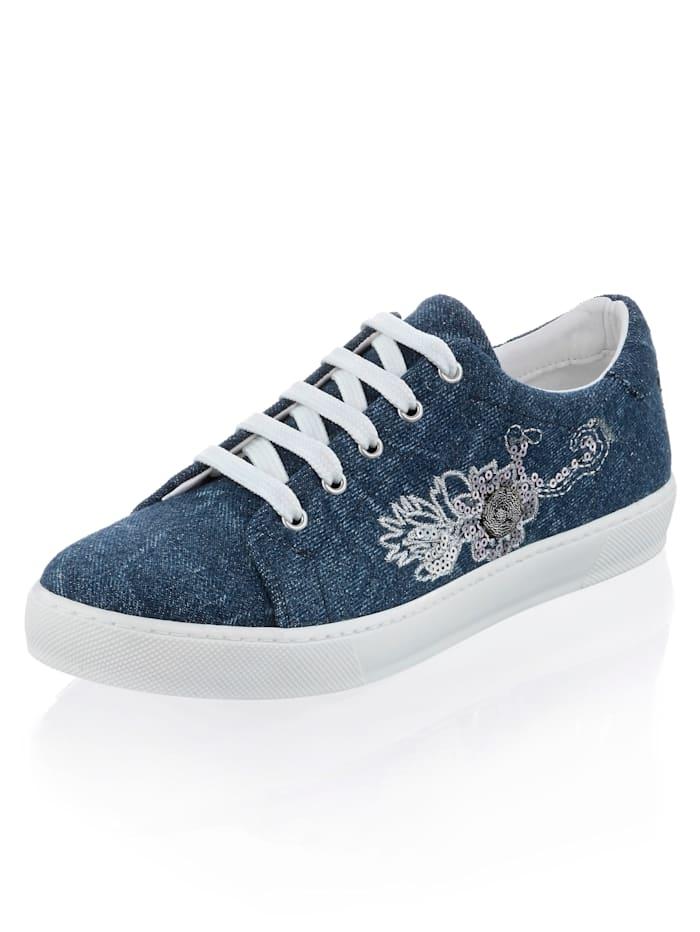 Alba Moda Sneaker mit seitlichen Detail, Blau