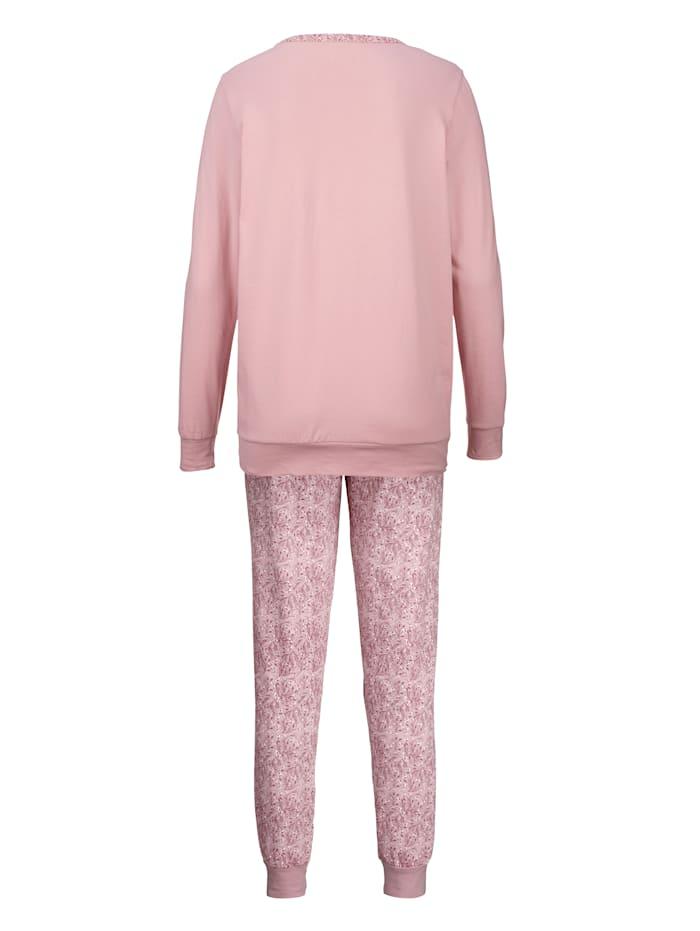 Schlafanzüge mit dekorativer Brusttasche 2er Pack