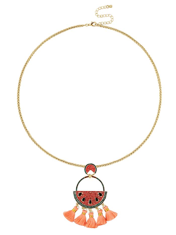 Necklace with melon pendant, Apricot