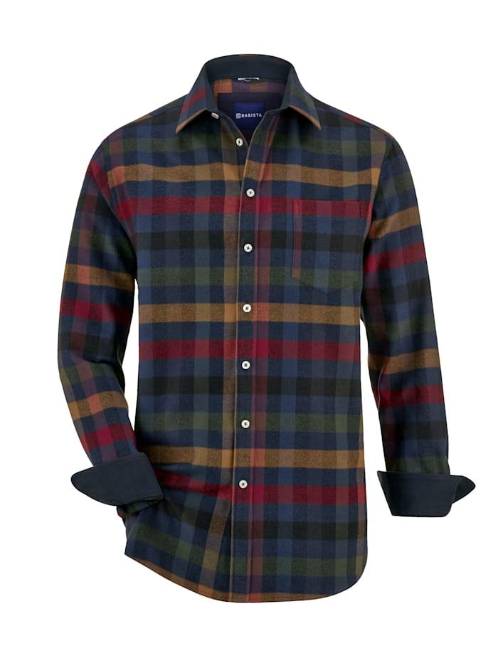 BABISTA Overhemd in winterse kleuren, Blauw/Rood/Groen/Geel