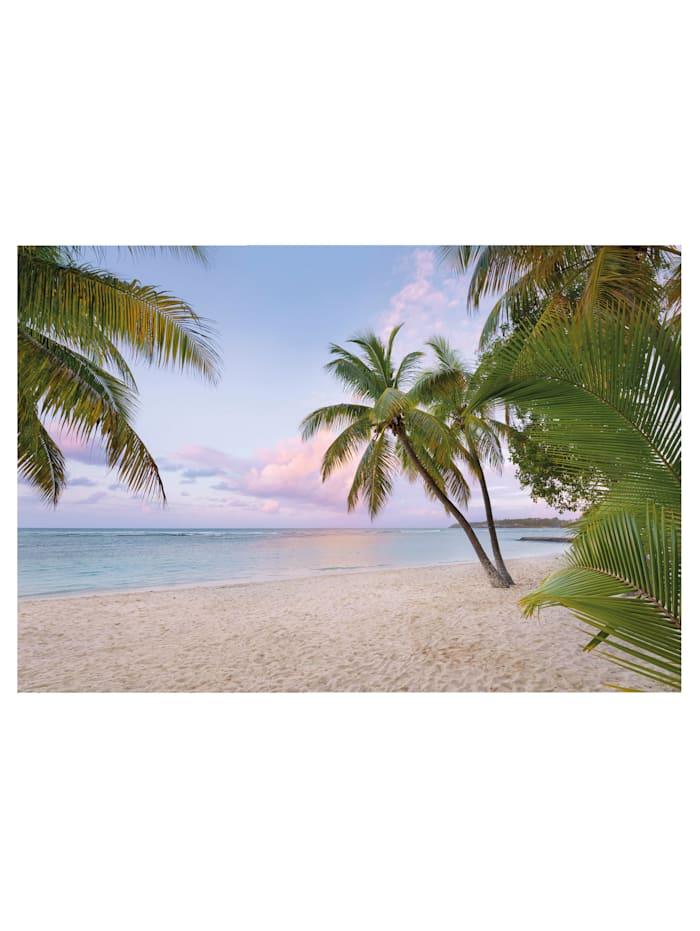 Komar Fototapete 'Paradise Morning', blau/natur