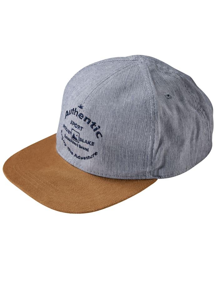 BABISTA Baseballcap met microvelours, blauw/bruin