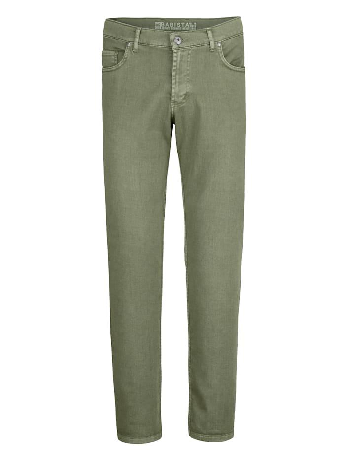 BABISTA Pantalon effet usé, Vert