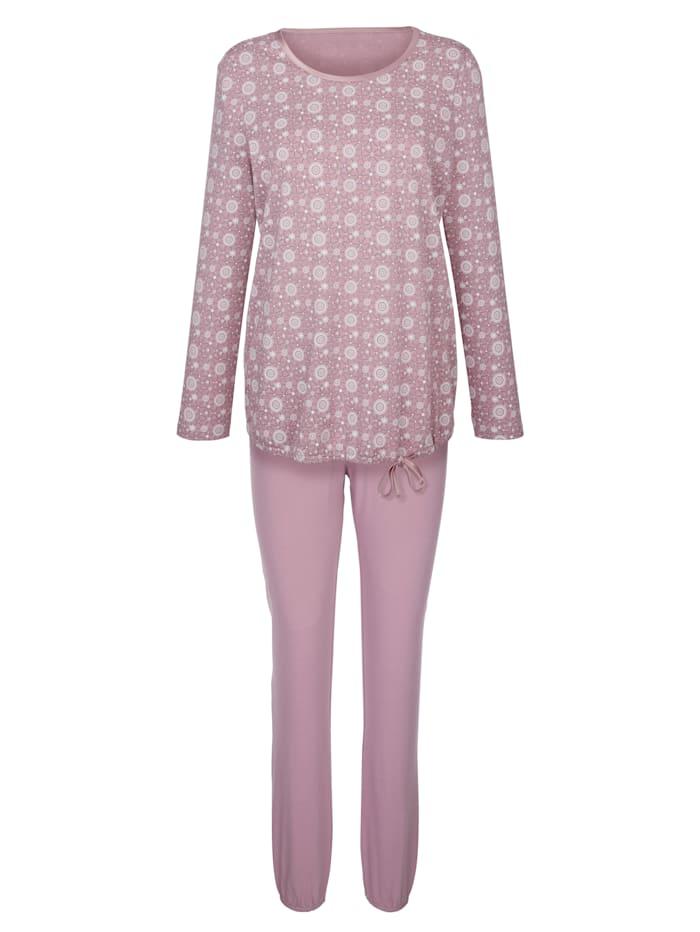 Pyjamas with a satin drawstring hem
