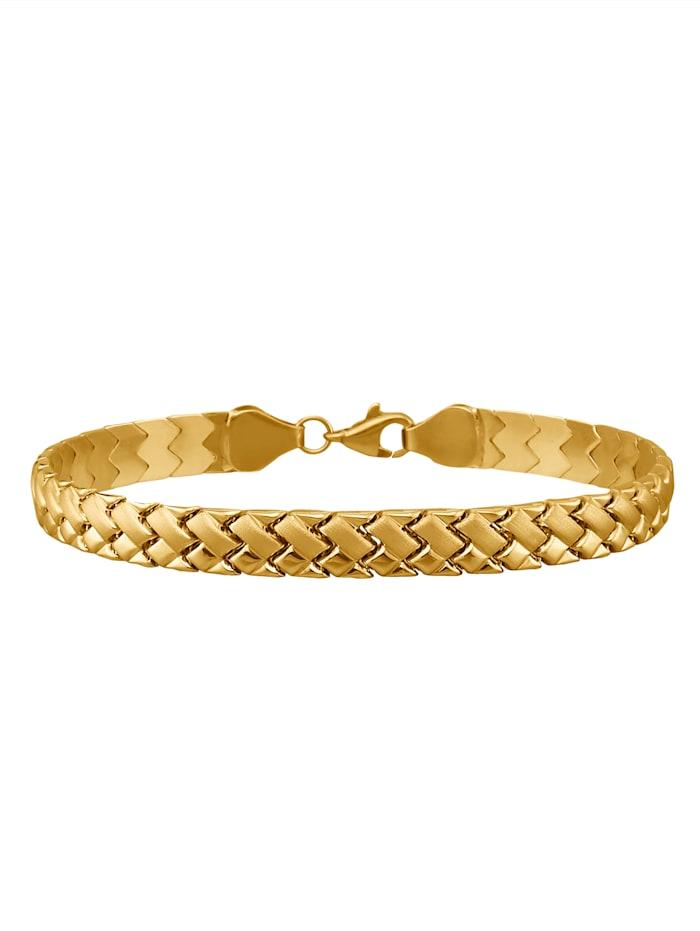 Bracelet mat et brillant, Coloris or jaune