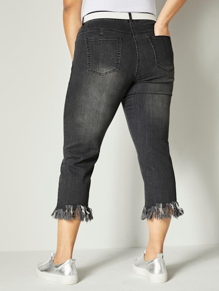7/8-jeans met open randen