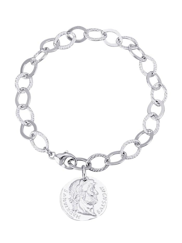 """Diemer Trend Armband mit Münze """"Augustus Hadrianus"""", Silberfarben"""
