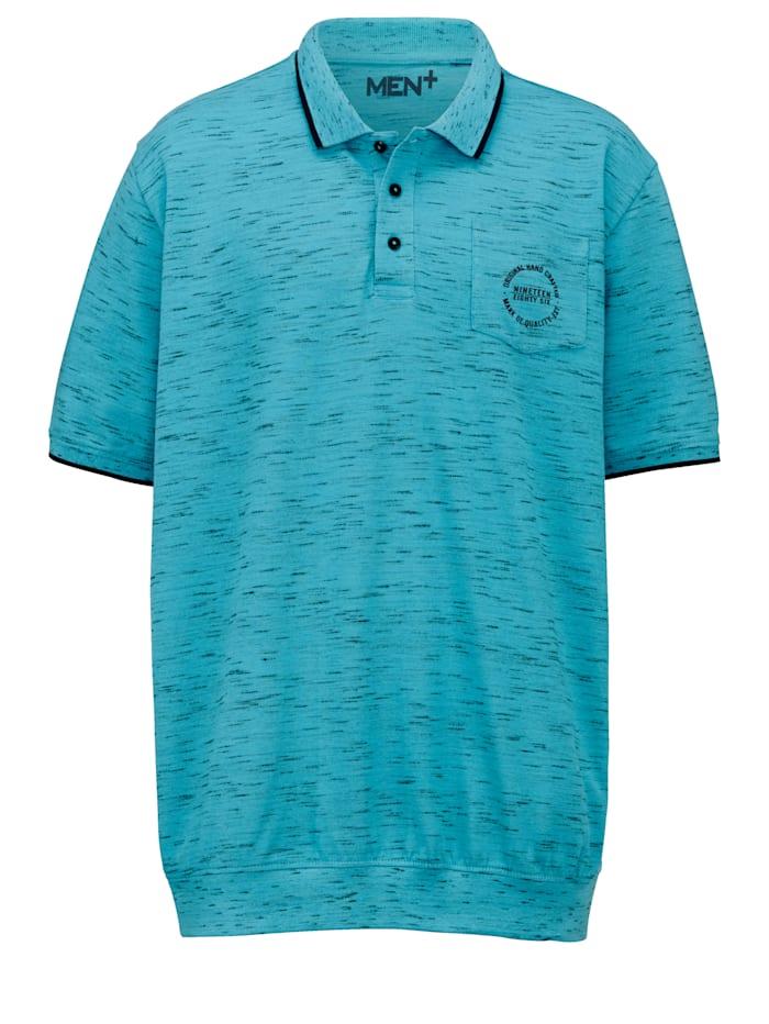Men Plus Poloshirt Spezialschnitt, Petrol