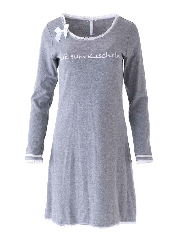 Louis & Louisa Nachthemd, Langarm, Grau