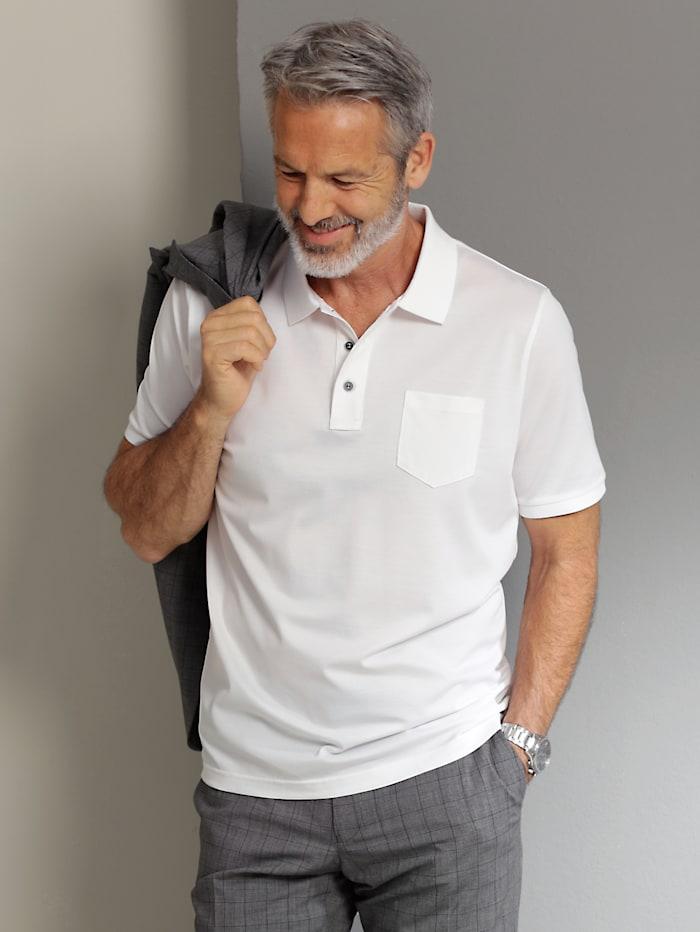 Babista Premium Poloshirt mit feinster Seide, Weiß