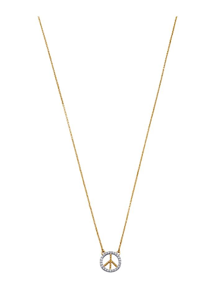 AMY VERMONT Collier mit Diamanten, Gelbgoldfarben