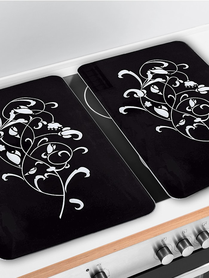 Set van 2 afdekplaten Ornamento Nero