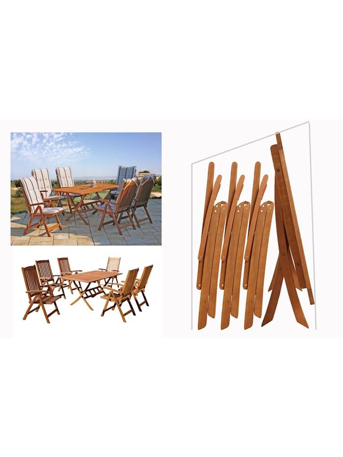 Grasekamp Schutzhülle Abdeckung Abdeckplane  Gartenmöbel 13tlg Set, Weiß