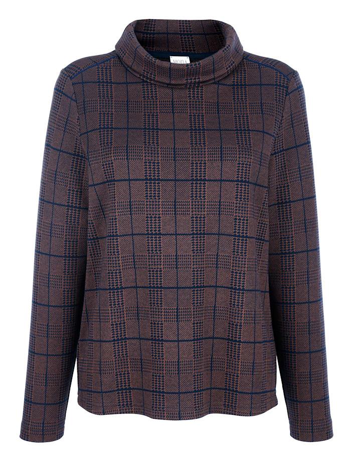 Sweatshirt met pied-de-pouledessin