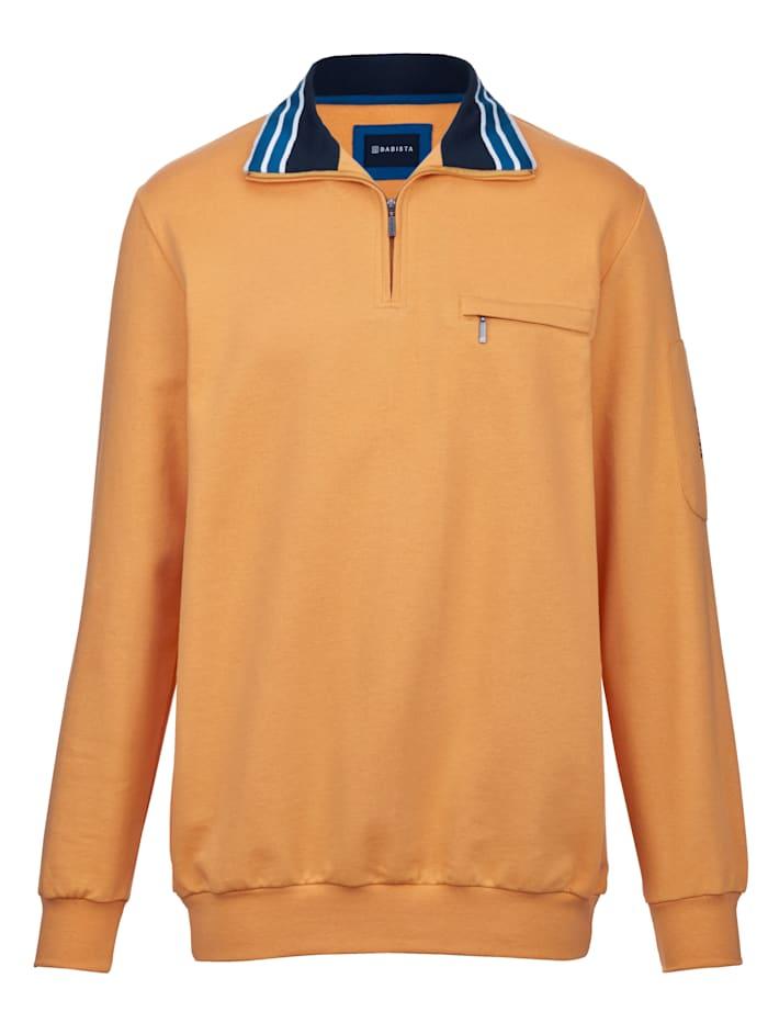 BABISTA Sweatshirt med kontrasterande detaljer på kragen, Majsgul
