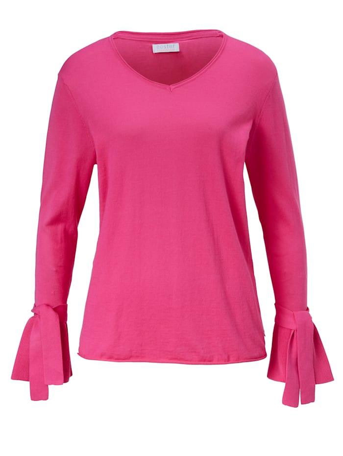 coster copenhagen Pullover Bindeband an den Ärmeln, Pink