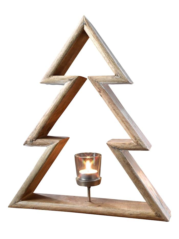 Creativ Wood Värmeljushållare, Natur