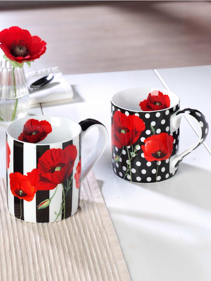 Könitz Lot de 2 tasses à café 'Madame Petite', Multicolore