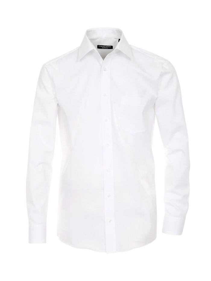 CASAMODA Hemd uni Comfort Fit, Weiß
