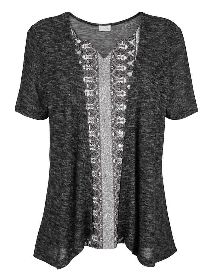 2-in-1-shirt met patronenmix