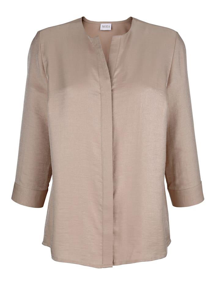 Bluse in dezent glänzender Ware