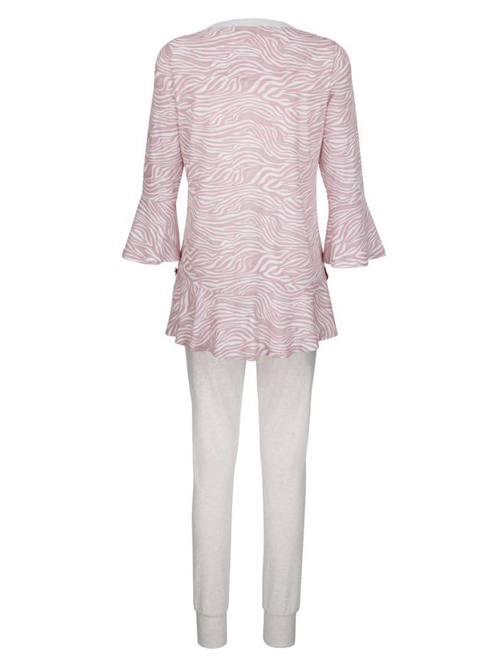 Schlafanzug mit hübschem Volant
