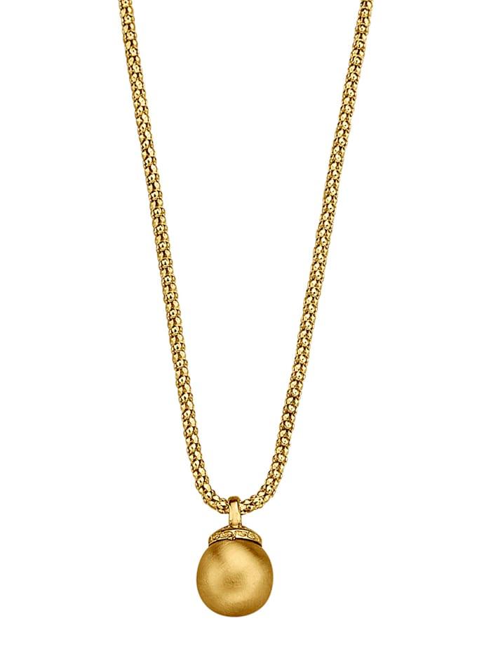 Kultainen kuulariipus ja kaulaketju, Keltakullanvärinen
