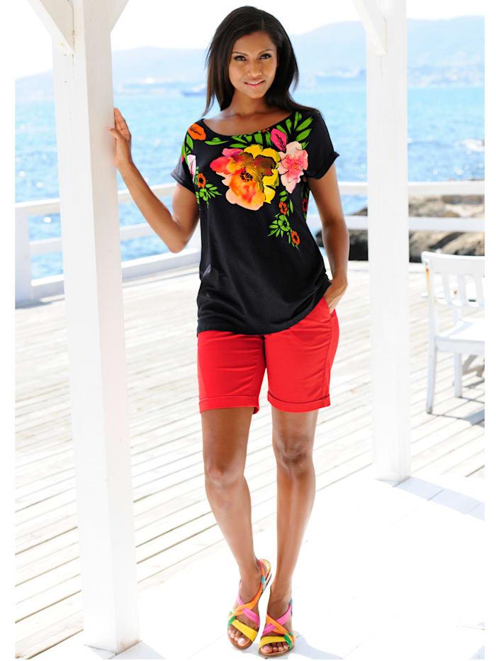 Strandshirt mit Blumendruck
