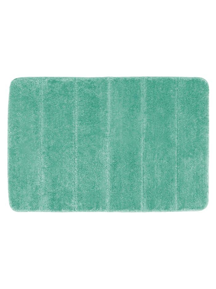 Wenko Badteppich Steps Turquoise, 60 x 90 cm, Mikrofaser, Polyester/Mikrofaser: Türkis