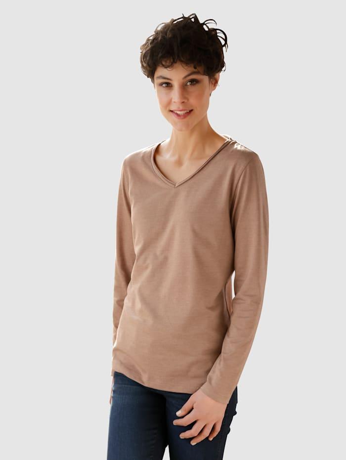 Dress In Shirt in mooie kleuren, Bruin
