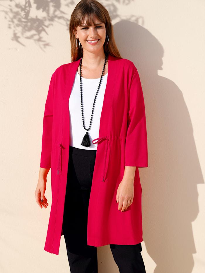 MIAMODA Sweatjacke in Kimono-Optik, Rot