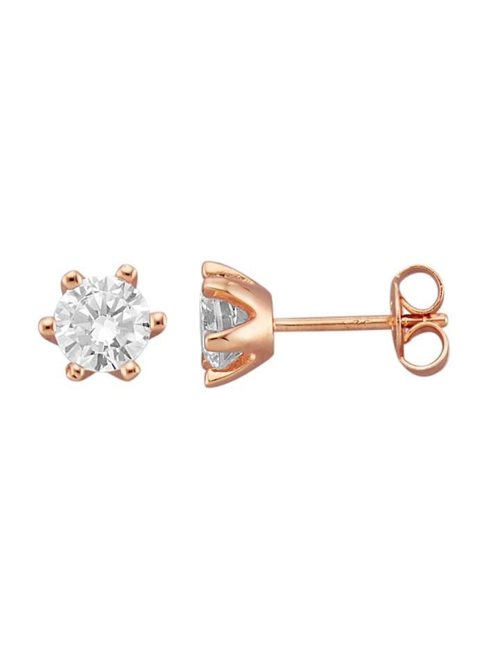 Boucles d'oreilles, Coloris or rose