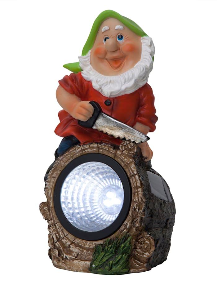 """Star Trading LED-aurinkokennovalaisin """"Puutarhatonttu ja kohdevalaisin"""" / Ulkovalo, monivärinen"""