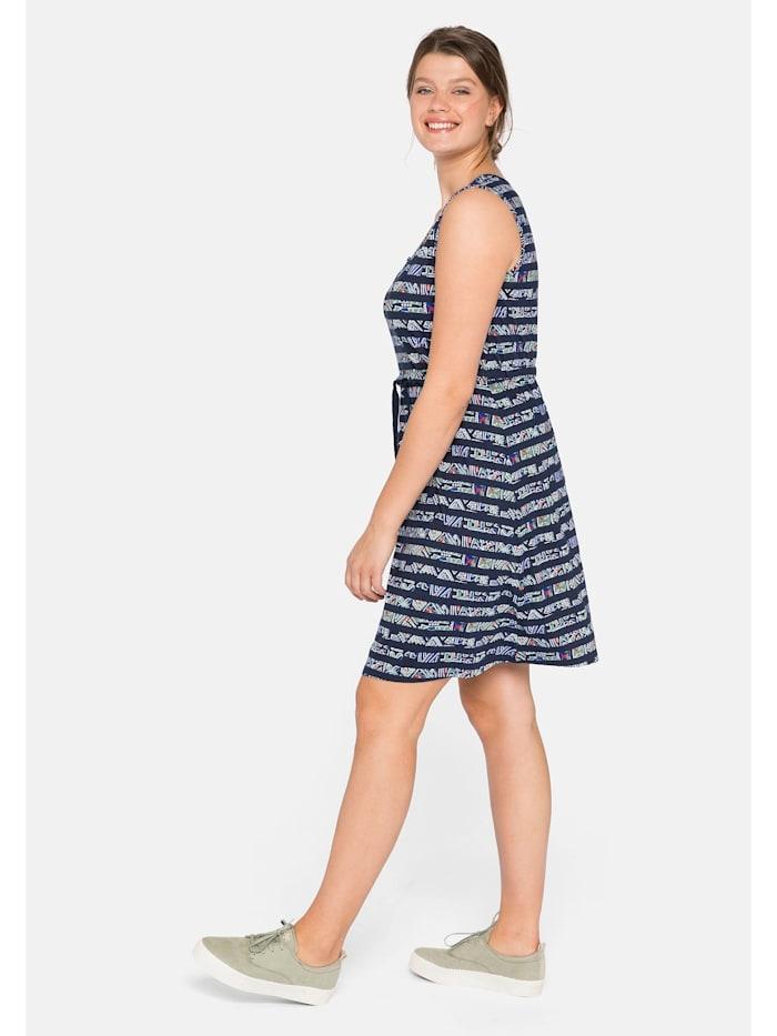 Sheego Jerseykleid mit Alloverdruck