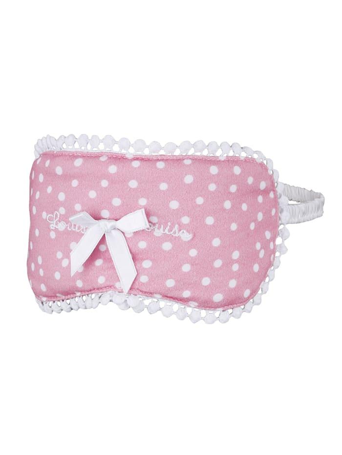 Louis & Louisa Schlafmaske mit hübscher Satinschleife, Rosé/Weiß