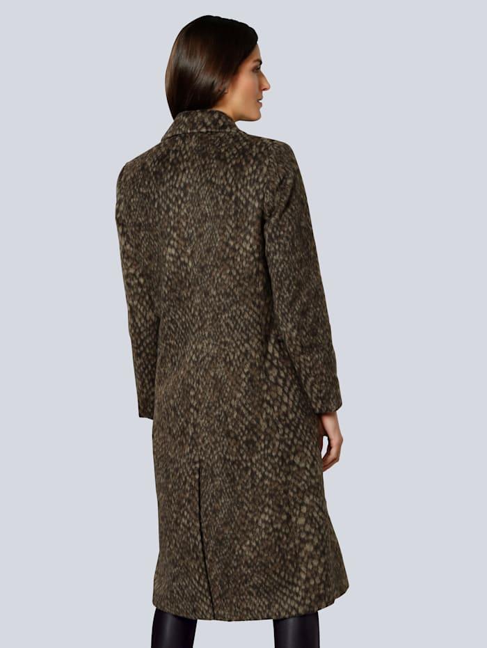 Manteau à superbe motif peau de bête