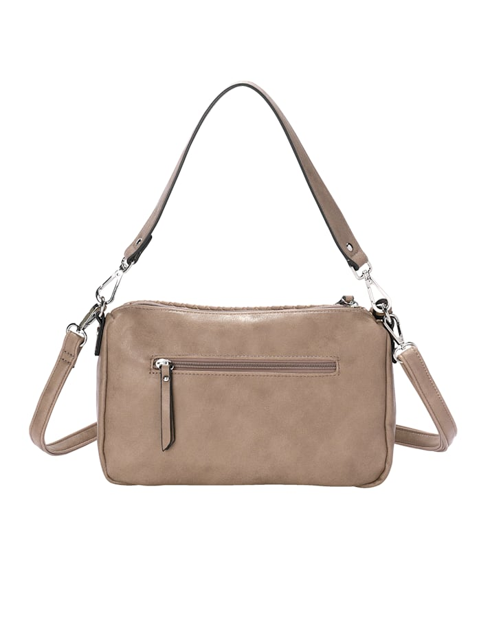Shoulder bag in a braided finish