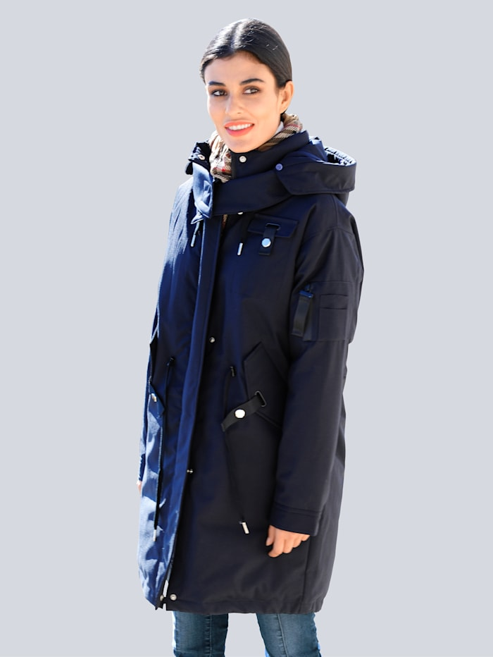Alba Moda Parka in wasser- und windfester Qualität, Marineblau